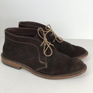 Amok Brown Suede Chukka Boots Sz8